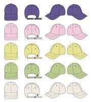 Boné de beisebol moda design de maquete de ilustração vetorial plana