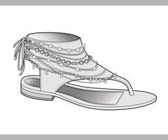 Shoes vector design illustration template