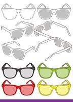Sunglasses Fashion Flat Sketche vector template