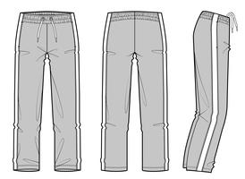 Athleisure Pants set Fashion technical drawings vector template