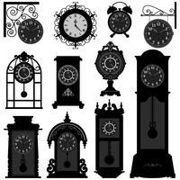 Clock  Antique  set
