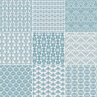 Blue Damask Patterns