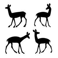silhouettes de cerf