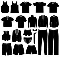 Male Apparel Clothing.  vector