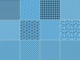 Light Blue Bandana Patterns