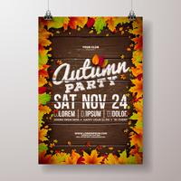 Autumn Party Flyer Illustration