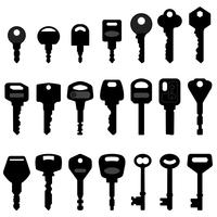 Key Black Silhouette Vector.