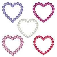 gemstone heart frames