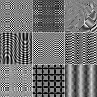 Black and White Op Art Patterns