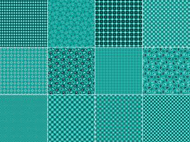 Turquoise Bandana Patterns