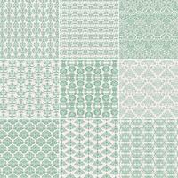 Light Green Damask Patterns
