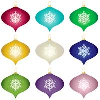 gradient Christmas tree ornaments vector clipart