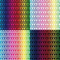 rainbow peace signs patterns