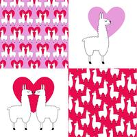 llama graphics and patterns