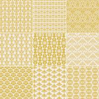 Golden Yellow Damask Patterns