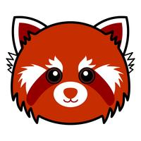Gullig röd panda vektor.