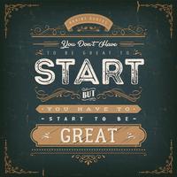 Sie müssen nicht großartig sein, um zu beginnen