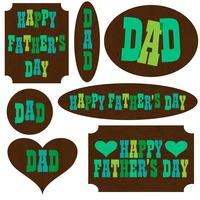 father' day clipart on mod wood placards