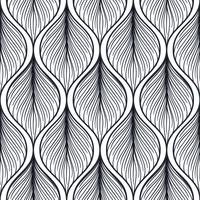 Seamless pattern with abstract feather shape.