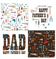 Father's day graphics with tools