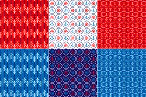 Red White & Blue Nautical Patterns