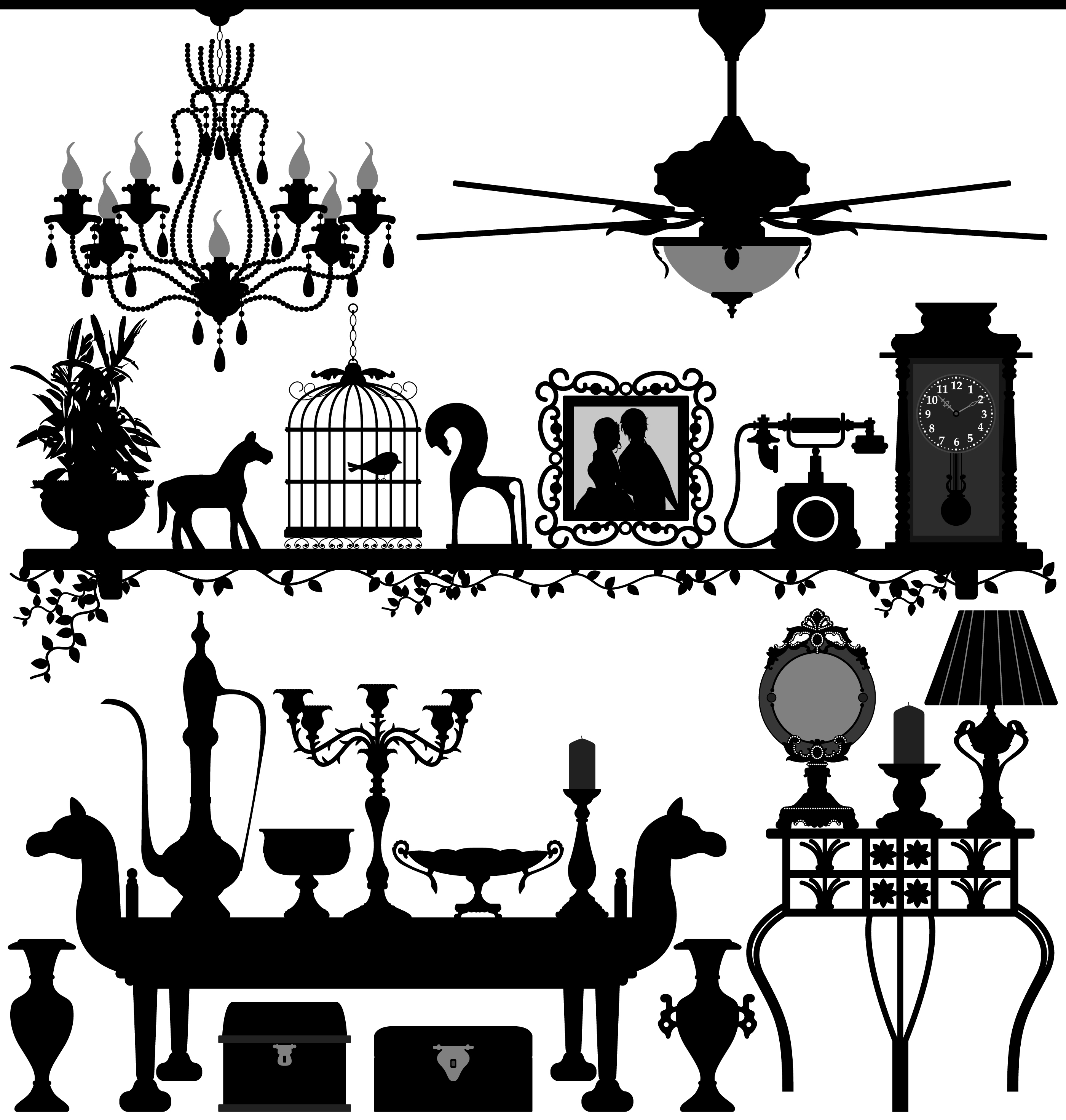 Antique Home Decoration Download Free Vectors Clipart