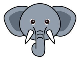 Cute Elephant Vector.
