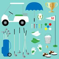 golf clipart vector