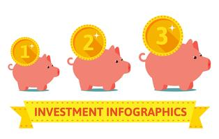 Infographics of pigs bank
