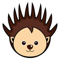 Cute Porcupine Vector.