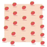 TOMATO Pattern vector design illustration template