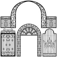 Puerta de entrada de la vendimia vector