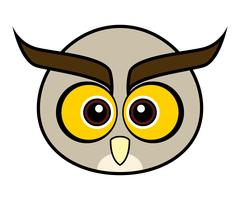Cute Owl Vector.
