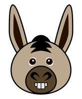 Cute Donkey Vector.