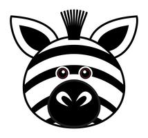 Cute Zebra Vector.