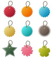 Key Chain Tag Vector.
