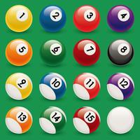 Billiard ball vector design illustration template