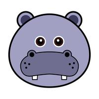 Cute Hippo Face.