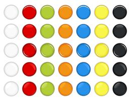 Colorful Glossy Button Vector.