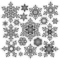 Blossom of snow vector design illustration template