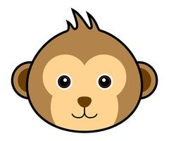 Cute Monkey Vector.