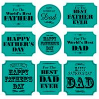 Fathers day blue placard graphics