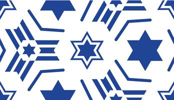 Naadloos patroon, met een blauwe ster van David.