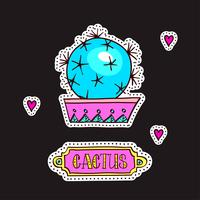 Patches de moda, broches com cactos
