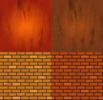 Set of Different wood brick texture