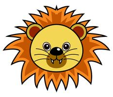 Cute Lion Vector.