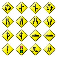 Road Sign Glossy Vector.