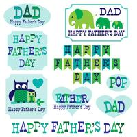 owls elephants father's day clipart