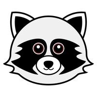 Cute Raccoon Vector.