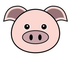 Cute Pig Vector.
